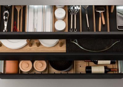Leicht Küchen Inneneinrichtung Schublade Pano