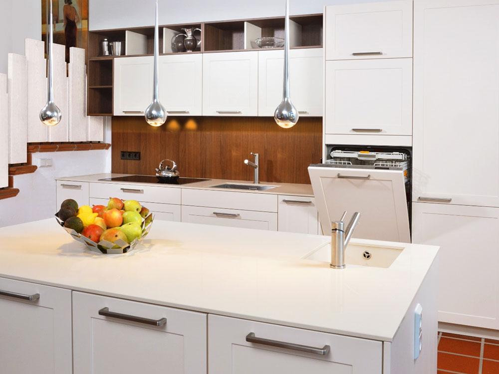 LEICHT Küche - Offene Einbauküche mit Insellösung